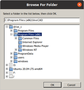 Third_VeeCAD_setup_screen_under_Wine.png